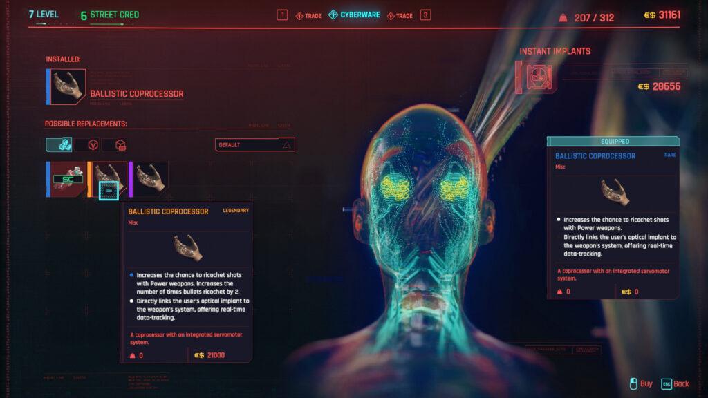 Cyberpunk 2077 Cyberware Implants Guide Hands