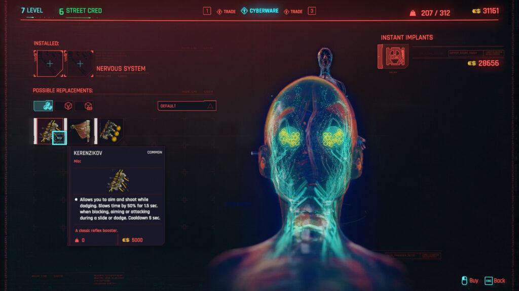 Cyberpunk 2077 Cyberware Implants Guide Nervous System