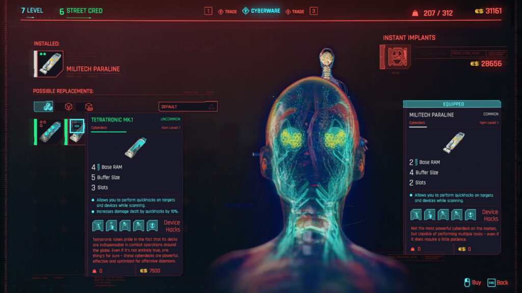 Cyberpunk 2077 Cyberware Implants Guide Operating System