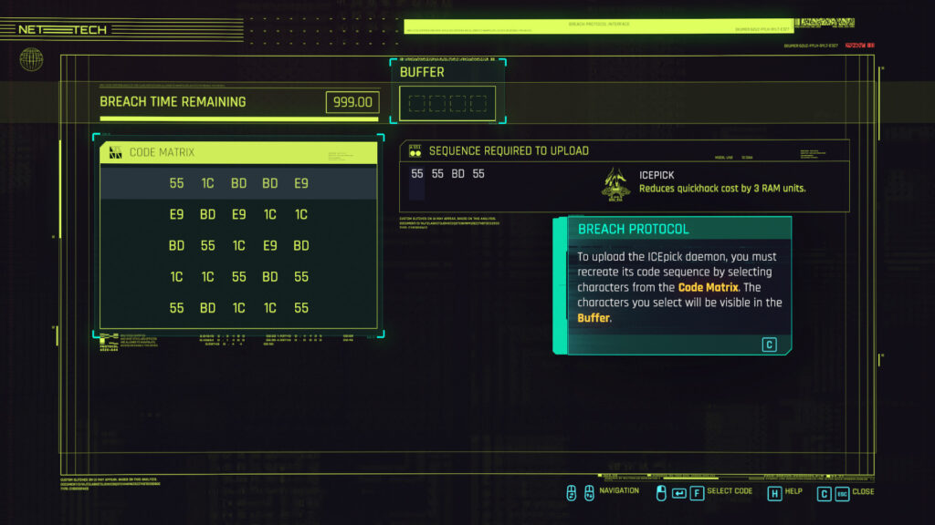 cyberpunk 2077 hacking guide breach protocol mini game step 1