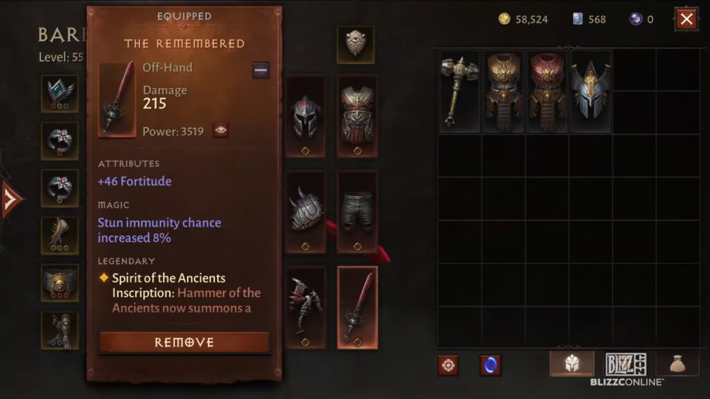 Diablo Immortal Will Be A New Diablo Game In Itself Barbarian Hammer Of The Ancients Gear Combo