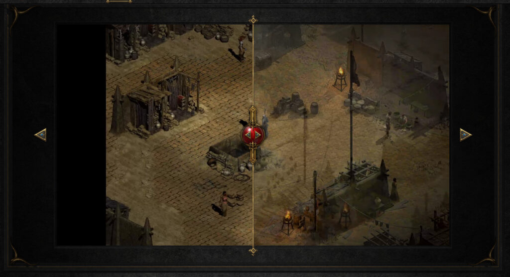 How Diablo Ii Resurrected Will Run Two Games At Once Comparison Of Graphics