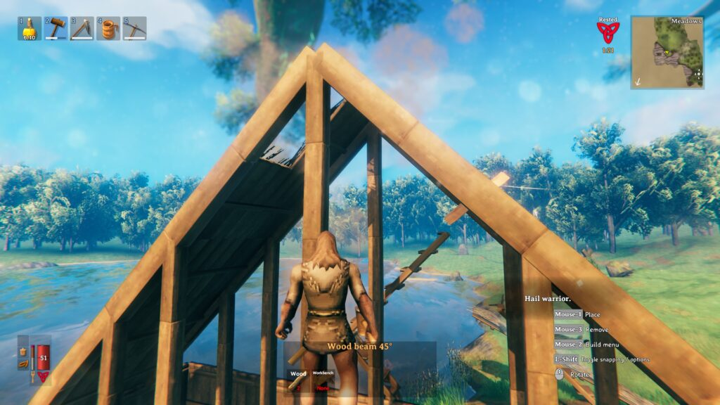 how to build a roof in valheim