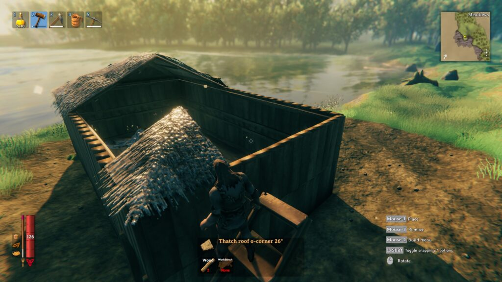 valheim how to build a roof easy roof method corner peices 1