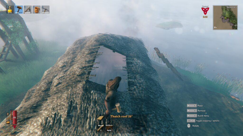 valheim how to build a roof easy roof method filling in gaps