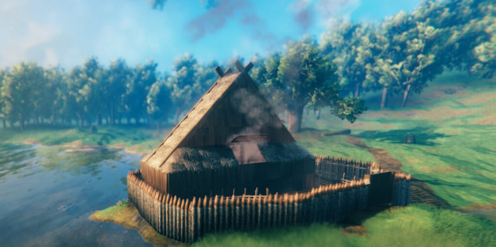 valheim how to build a roof tall large method 2