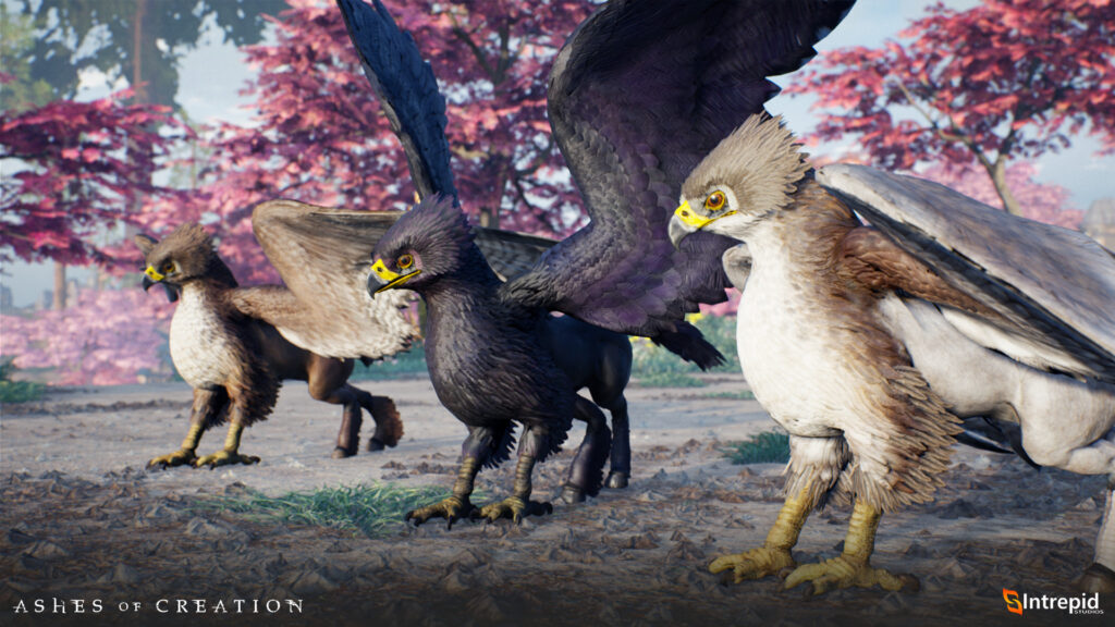 ashes of creation mounts hippogryphs