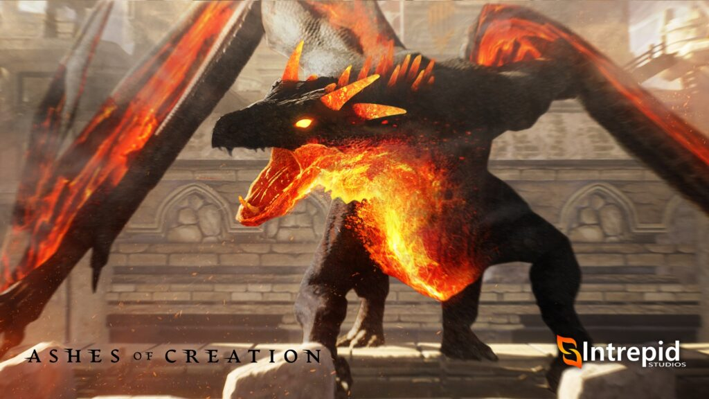 ashes of creation mounts royal mount emberstorm dragon