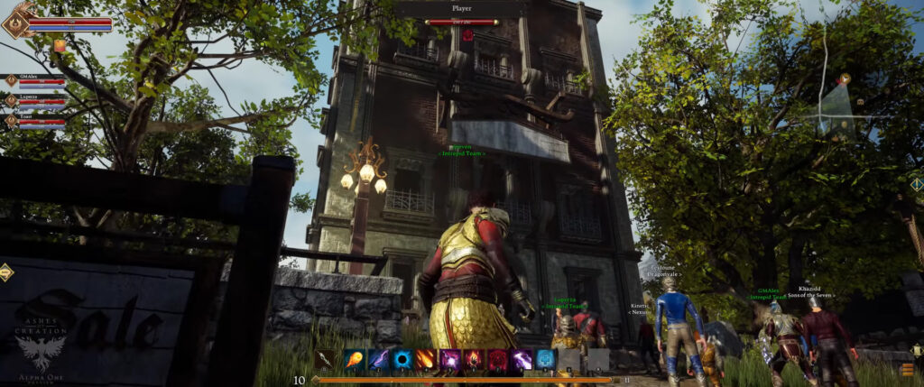 ashes of creation pre alpha 4k footage node construction completed