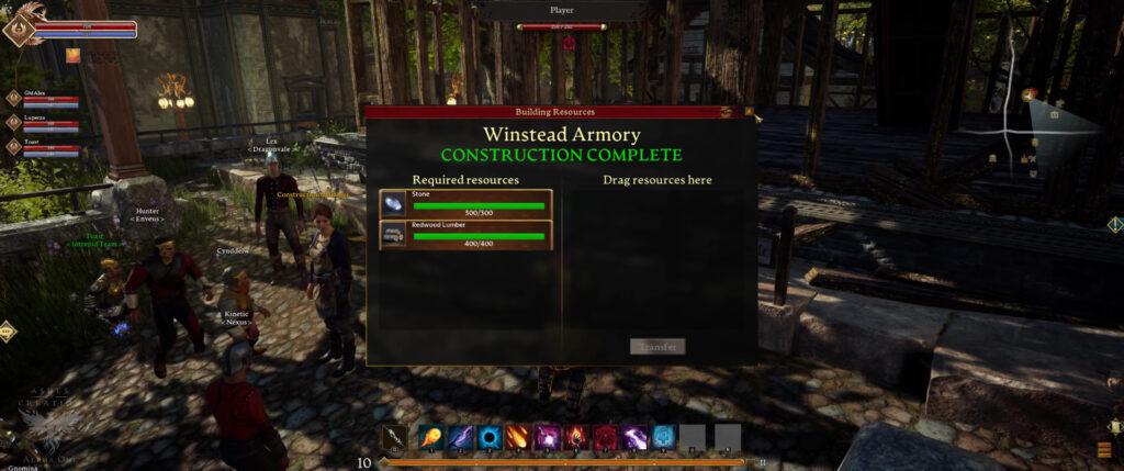 ashes of creation pre alpha 4k footage node construction ui