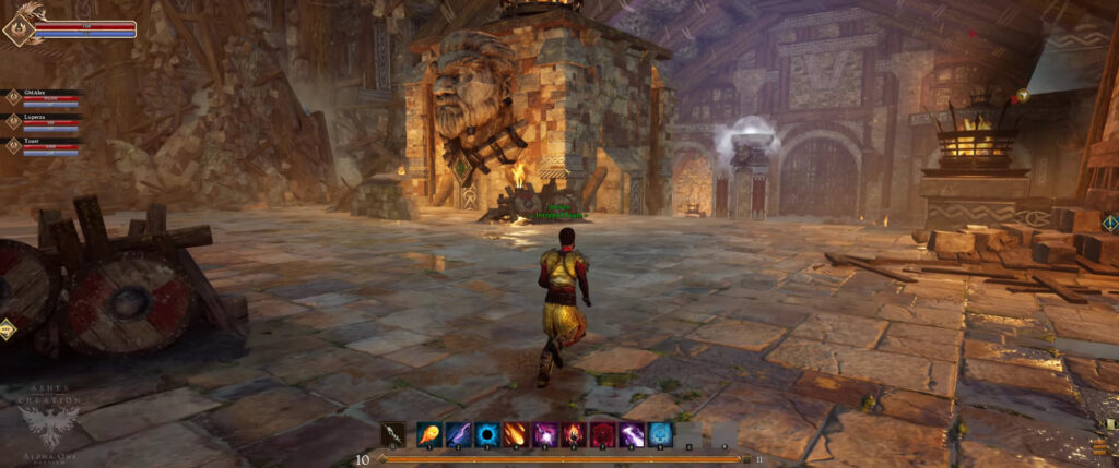 ashes of creation pre alpha 4k footage pve open world dungeons halls