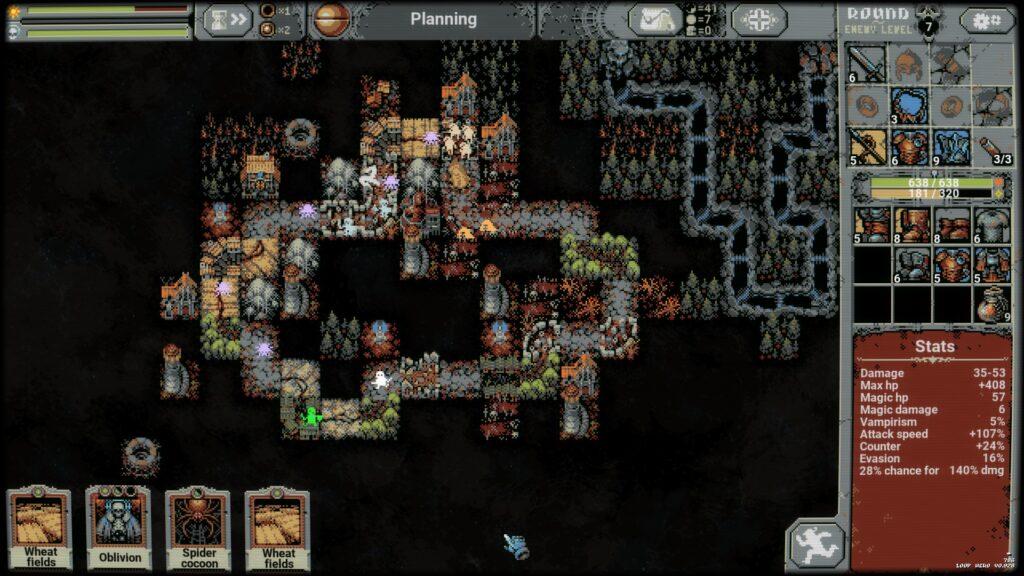 Loop Hero Map Layout