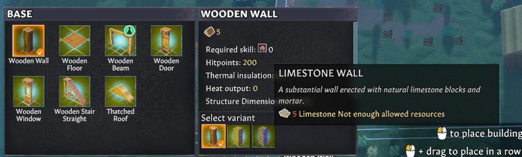 construction building base menu variants going medieval 1