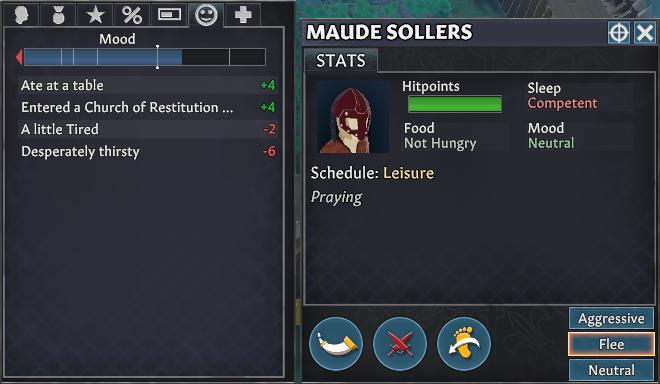 keeping settlers happy mood menu