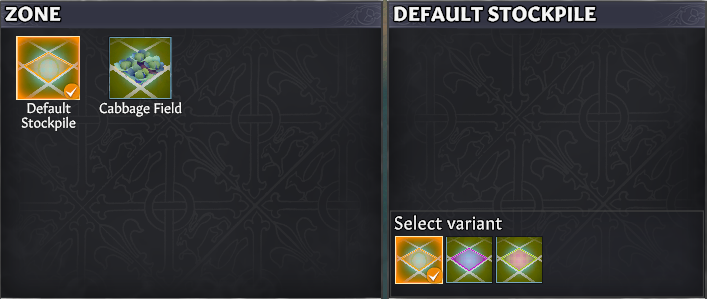 stockpile select variant going medieval