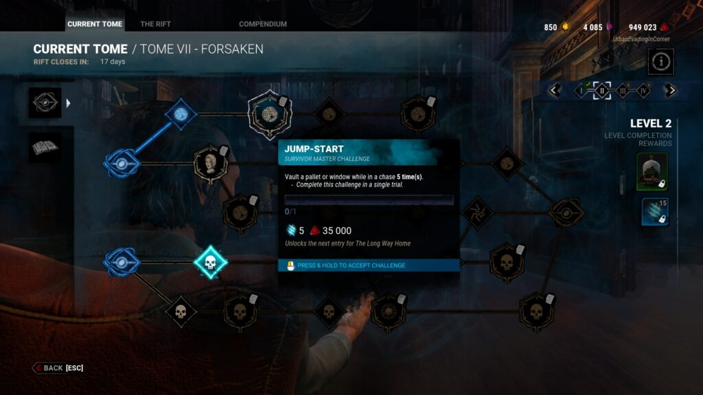 tome challenges archive bloodpoints grind dbd
