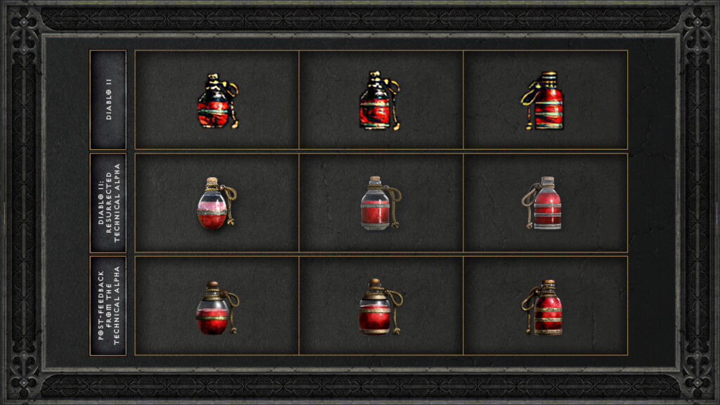 diablo ii changes due to technical alpha health potion icon evolution