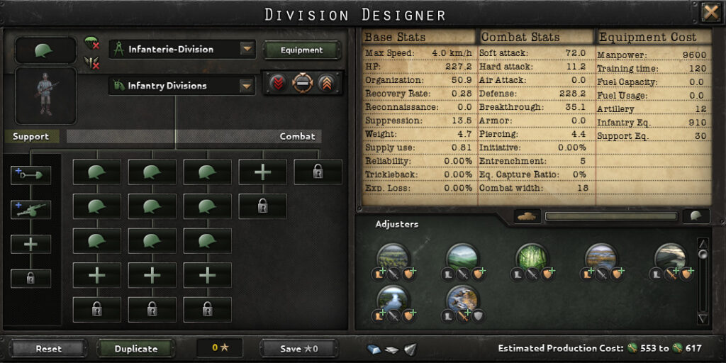 The Division Designer in Hearts of Iron IV