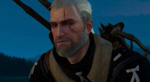 Geralt smiling