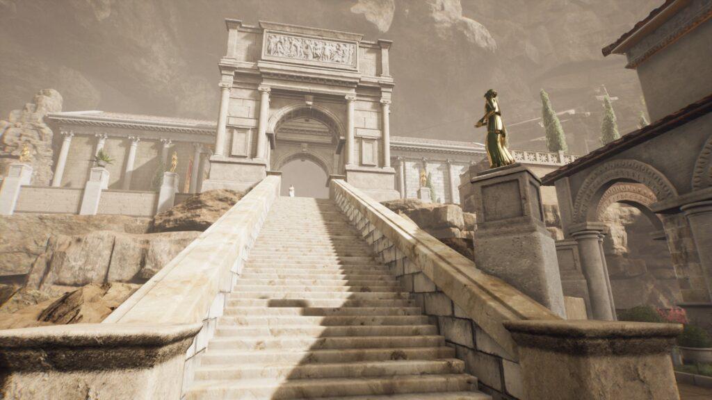 stairs up the shrine of apollo the forgotten city walkthrough 1