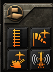 The Infrastructure Buildings menu in Hearts of Iron IV.