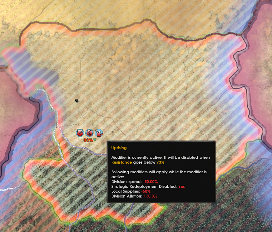 Impacts of resistance in Hearts of Iron IV.