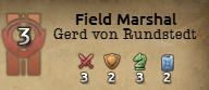 A Field Marshals skills in Hearts of Iron 4.