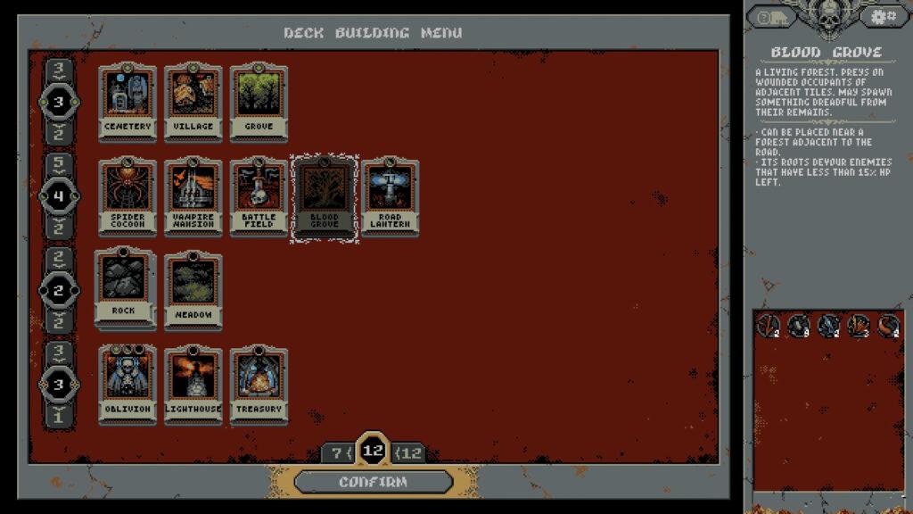 deck building menu image loop hero review