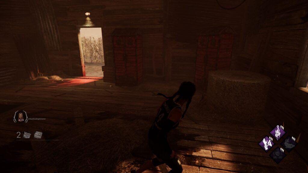 killers red stain in doorway dbd guide finding survivors
