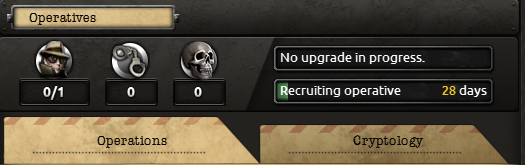 Decryption and operations menu in Hearts of Iron IV.