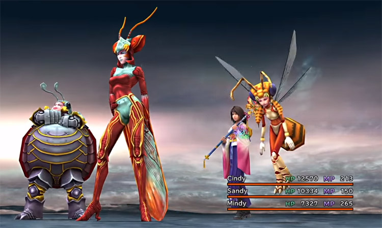01 yuna with magus sisters ffx hd