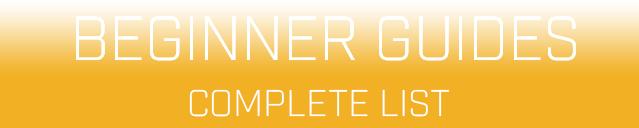 beginner guides menu header