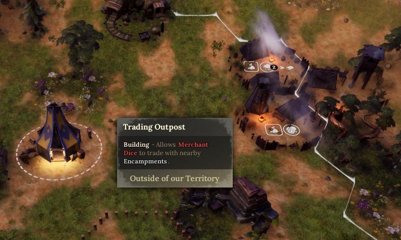 encampment building not in range dice legacy guide