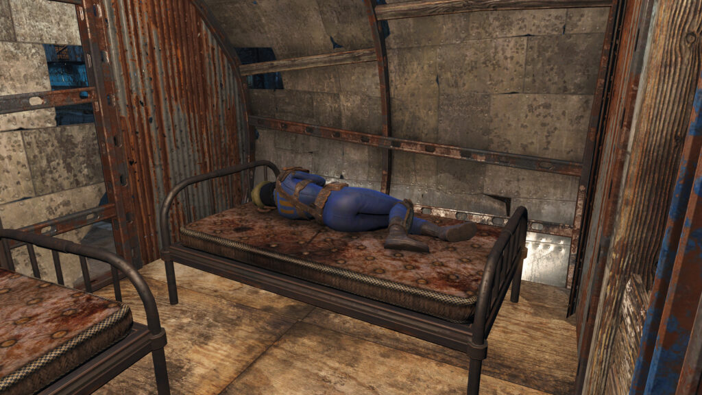 fallout 4 settlement happiness assigning a bed sheltered from rain