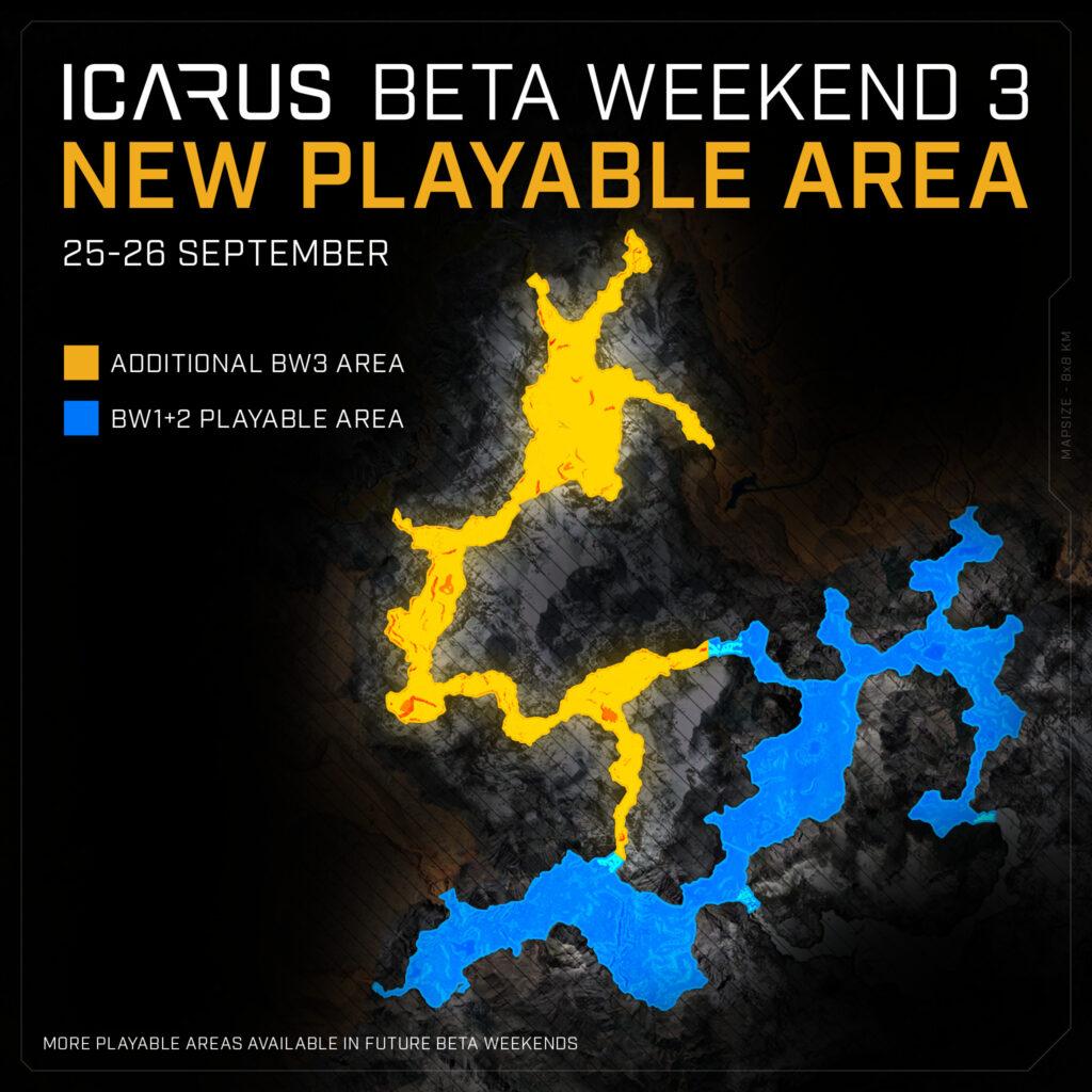 icarus beta weekend 3 arctic map size