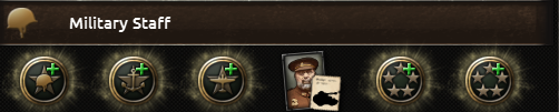The high command slots in Hearts of Iron IV.